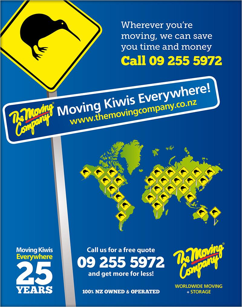 Moving Kiwis Everywhere campaign