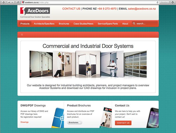 Acedoors website