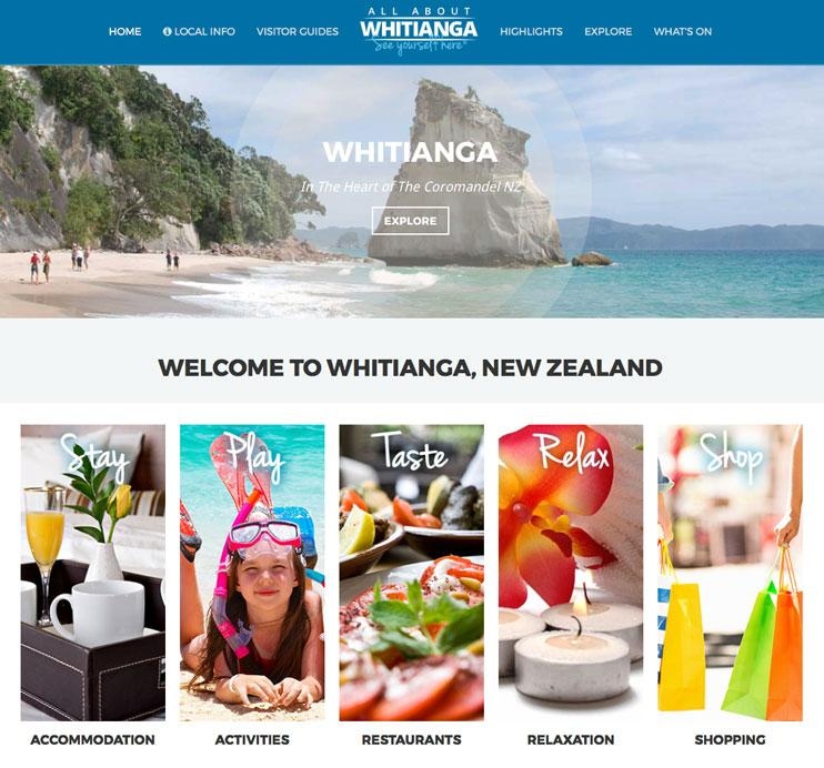 All About Whitianga Website