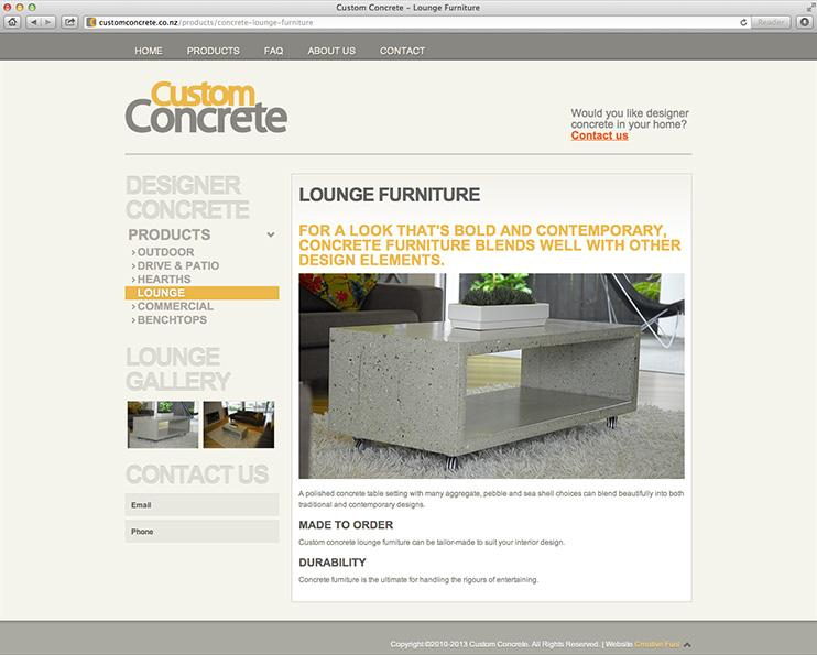 Custom Concrete Website