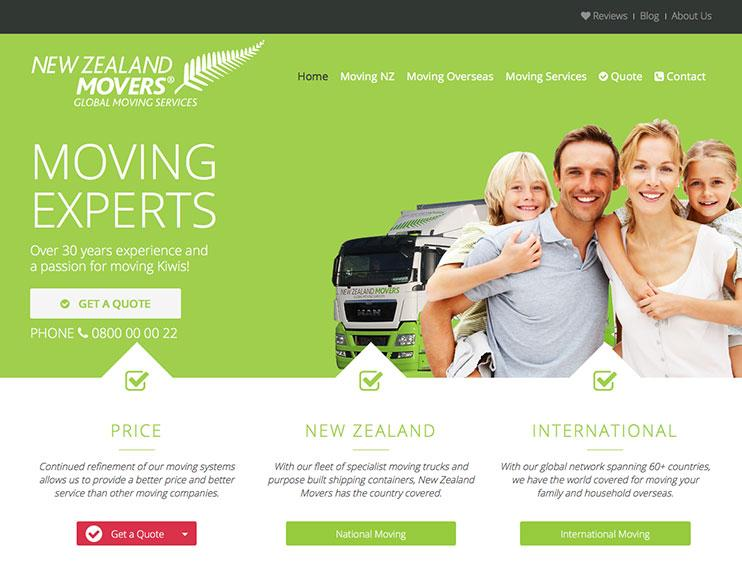 New Zealand Movers Website