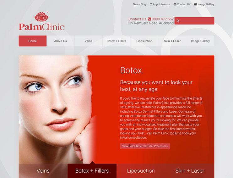 Palm Clinic Website